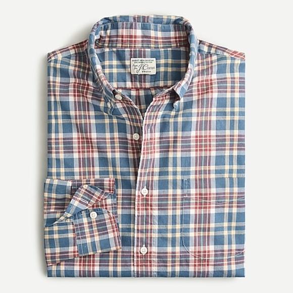 J.CREW Men's cotton poplin shirt (size S) NWT